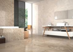 Brooklyn Beige 10x13 (wall tile) #HDC Bathtub Surround, Porcelain Tile, Wall Tiles, Tile Floor, Brooklyn, Spain, Flooring, Interior Design, Room