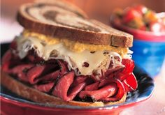 Ruben sandwich on marble rye - food photography by Rick Meoli