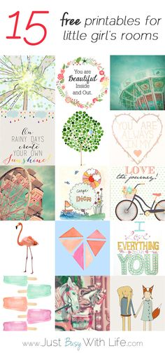 Printables for girls room