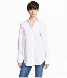 Vid bomullsskjorte   Hvit   Dame   H&M NO