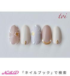 Pin on ネイル Purple Nails, Nude Nails, Gel Nails, Manicure, Summer Acrylic Nails, Cute Acrylic Nails, Spring Nails, Japanese Nail Art, Flower Nail Art