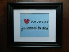 I Love You Because Pink Rose Heart Dry Erase by theurbanupcyclers