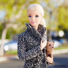 Taking Ms. Honey out for a stroll!  #barbie #barbiestyle