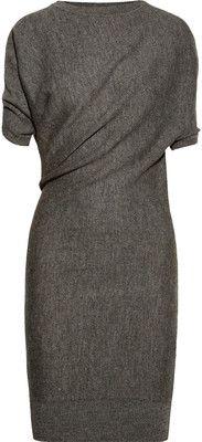 Lanvin Draped alpaca and wool-blend dress - Polyvore