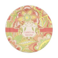 70\u0027s Retro Party Plates  sc 1 st  Pinterest & Gold Pink and Baby Blue Princess Party Paper Plate | Princess party ...