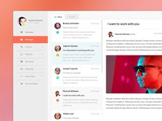 Inbox / Messages  by André Oliveira for Pixelmatters