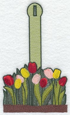 Tulip Towel Topper design (G1773) from www.Emblibrary.com