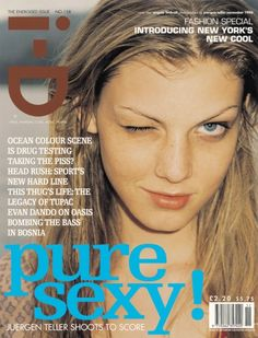 i - D November 1996 - Angela Lindvall in 'The Energized issue'