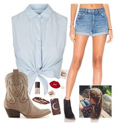 """cowboy gal"" by danifashionblog on Polyvore featuring Topshop, GRLFRND, Volatile, Lime Crime, NARS Cosmetics, Wolf & Moon, Phillip Gavriel and Accessorize"