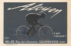 Alcyon Vintage French Bicycle Poster #bicyclevintage