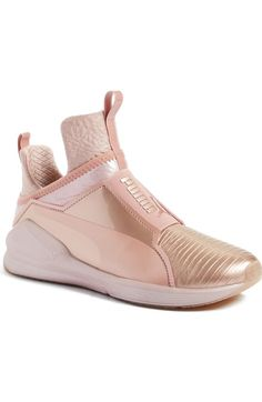 puma creepers metallic rose