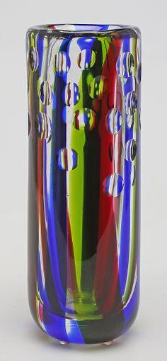 ** Vicke Lindstrand, UNIK glass vase.