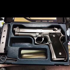 Italian Beretta 92FS 9mm semiauto pistol