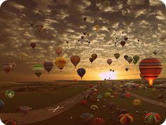 Fly in a hot air balloon! <3