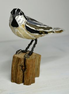Coal tit paper sculpture by Suzanne Breakwell www.suzannebreakwell.com
