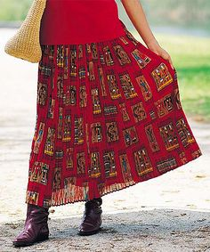 Red Kokopelli Skirt - Women, Petite & Plus | Daily deals for moms, babies and kids