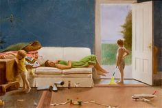 David Graeme Baker July Bride 20x30 inches Oil on linen mounted on panel 2008 www.davidgbakerpainting.com