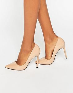 Image 1 of Lost Ink Delila Nude Heeled Court Shoes