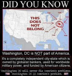 Washington D.C. City of London and Vatican do not belong to these nations, these 3 city centers belong to illuminati banker families, privately owned lands, these 3 places are the center of new world order global government. Vatican is for spiritual control, City of London holds financial control, Washington D.C. holds the military control of the world for this... tiny cabal of illuminati bloodline families whose roots are going back to ancient egypt and babylon ruling families of pharaohs.