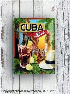 Plaque décorative bombée Cuba Libre, déco bistrot, Nostalgic Art Cuba, Nostalgic Art, Decoration, Decorative Plates, Home Decoration, Decor, Decorations, Decorating, Dekoration