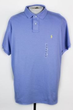 NWT POLO RALPH LAUREN MENS XL BLUE PONY LOGO SHORT SLEEVE POLO RUGBY SHIRT  #PoloRalphLauren #PoloRugby