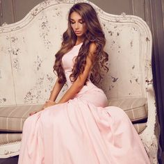 princess dress shared by ♕ Lavishing Lace on We Heart It Pink Fashion, Love Fashion, Fashion Glamour, Couture Fashion, Fashion Women, Russian Beauty, Evening Outfits, Evening Dresses, Prom Dresses