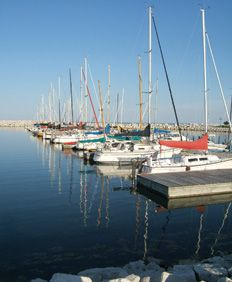 Our 1st dock at Southport Marina in Kenosha WI.