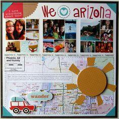 We ♥ Arizona - Scrapbook.com - Print out a map to show where you traveled.