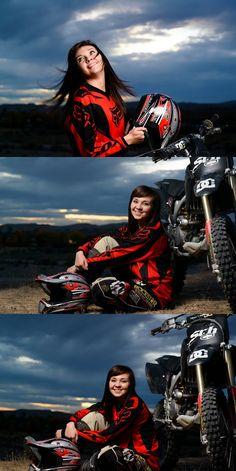 Beautiful Brook | Senior Photographers | Uintah Basin | Vernal, Utah » Morgan and Alison -- outdoor senior session -- motorcycle senior session -- dirtbike senior session -- off camera flash