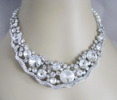 Vintage Inspired Wedding Necklace and Earring by weddingswithflair, $90.00