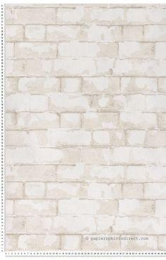 Brick wall blanc - Papier peint Steampunk de Lutèce