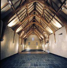 A refurbished tithe barn roof.