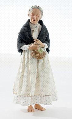 1:12th scale miniature Tasha Tudor doll