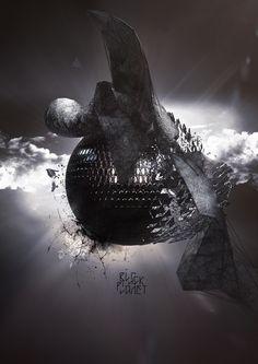 black planet by Tobias Gallé, via Behance