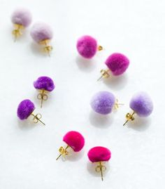 #DIY Pom Pom Earrings | Confetti Pop - Make someone's lobes lovely with these no-fail project. #MothersDay