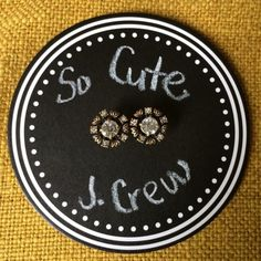 """J. Crew Retail Brass Leaves Stud Earrings NIB!! Purchased from @styled but am not too sure on the size for me. First image is hers. 😔 Here are web details:  Tiny brass leaves punctuated by Czech glass crystals—sweet early-spring earrings. Diameter: 5/8"""". Brass, Czech glass. Light gold ox plating. Import. ❌Trades ❌PayPal J. Crew Jewelry Earrings"""