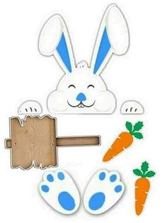 Diy For Kids, Crafts For Kids, Arts And Crafts, Easter Photo Frames, Baby Birthday Cakes, Stencil Templates, Easter Printables, Spring Activities, Toddler Crafts