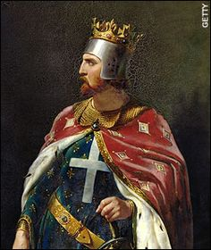 The Plantagenets. This is King Richard the Ist, known as Richard the Lionhearted, not to be confused with Richard III, whose body was recently found under a parking lot ...
