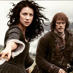 Beautiful #CaitrionaBalfe as #ClaireFraser sexy #SamHeughan as #JamieFraser #Outlander #STARZ #Forastera