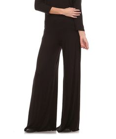 Loving this Black Palazzo Pants - Plus on #zulily! #zulilyfinds