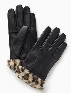 Animal Leather Gloves: Stylish and sleek gloves are the perfect accessory for winter. Super-soft lining provides cozy warmth on the inside, while a polished, genuine leather fabric covers the outside. Faux fur cuffs feature a trend-right animal pattern for a fashionable finish. Catherines accessories are proportioned to fit and flatter plus size women. catherines.com #Catherines #PlusSize #winter