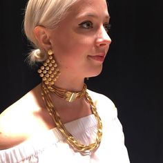 layering it up for the chicest summer at Couture. #lovegold #goldearrings #goldnecklace #luxe #couture2016 #LasVegas