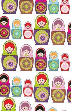 Russian dolls kawaii