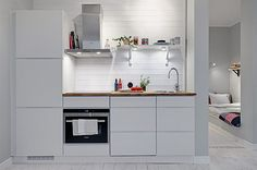 Small apartment with renovated kitchen #small_kitchen #kitchen