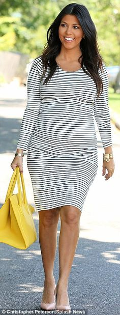 Who looked best? Pregnant Kourtney Kardashian continued to upstage sister Khloe in The Ham...