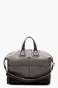 GIVENCHY Grey Flannel NIGHTINGALE tote