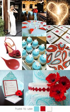 Fourth of July wedding inspiration!  #red #turquoise #wedding