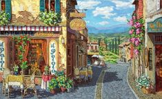 2010 Summer in Tuscany painting for sale - 2010 Summer in Tuscany is handmade art reproduction; You can shop 2010 Summer in Tuscany painting on canvas or frame. Fabian Perez, Frank Morrison, Henri Matisse, Rue Lafayette Paris, Belle Image Nature, Original Art, Original Paintings, Cross Stitch Landscape, Thomas Kinkade
