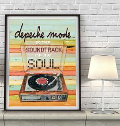 Depeche Mode Music Inspired Art Print, Vintage retro vintage concert poster record player, music of the masses, violator, 80s new wave, Gift