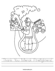 Thank You Merck Firefighters Worksheet - Twisty Noodle